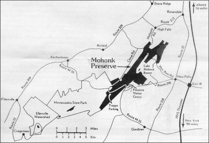 Map copied from Mohonk Preserve membership renewal form.